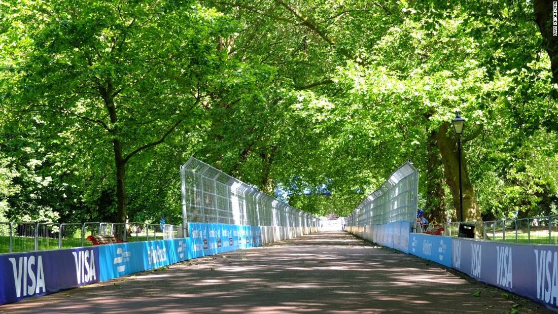 Battersea Park's leafy lanes have been transformed for the Formula E finale.