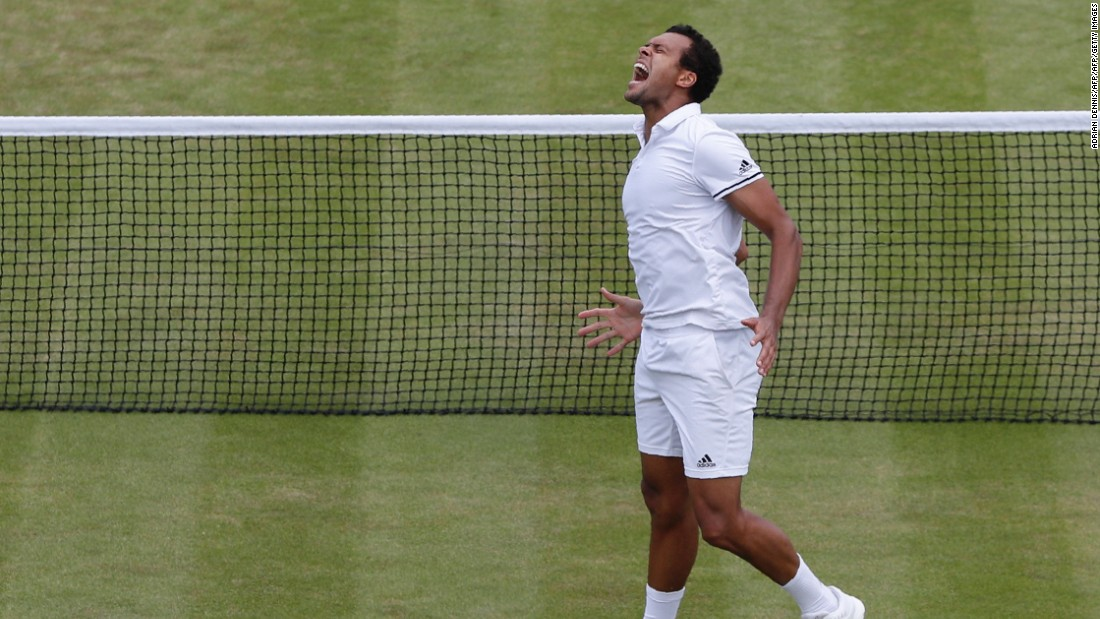 France's Jo-Wilfried Tsonga came through a marathon match against American John Isner before finally prevailing 19-17 in the fifth set. He will face compatriot Richard Gasquet for a place in the quarterfinals.