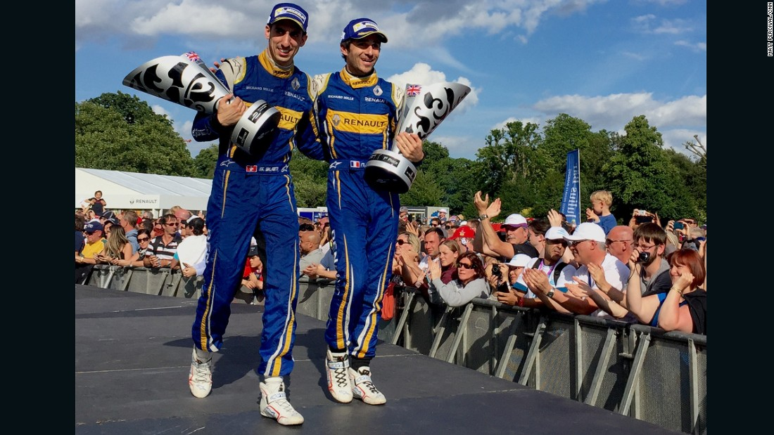It was Buemi who prevailed to take the Formula E world title 155 points to di Grassi's 153.