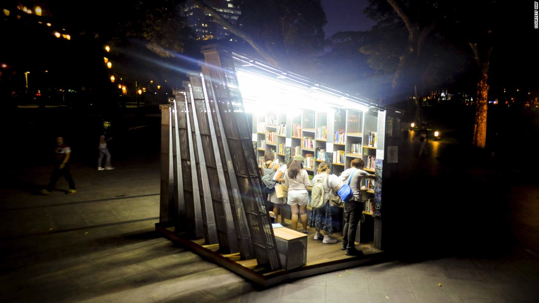 A more intimate structure than many of its fellow nominees, The Book Stop Project in Makati, Philippines, by WTA Architecture and Design Studio has been selected to compete in the Small Projects category (Image courtesy WAF).