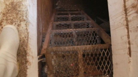 A tug on an escape hatch behind a mirror popped open a doorway to a secret tunnel in Los Mochis.
