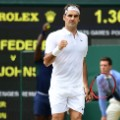 Roger Federer; Wimbledon; 7th day 4th of July
