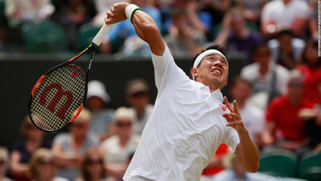 Cilic advanced after Japan's Kei Nishikori was forced to withdraw due to a rib injury.