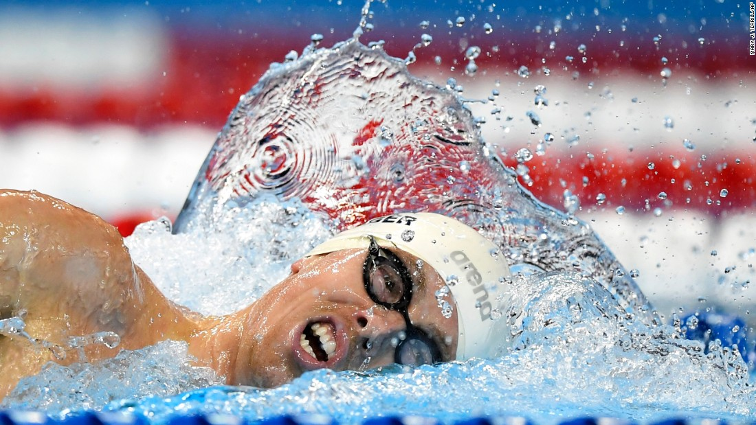 Connor Jaeger swims the 1,500-meter freestyle at the U.S. Olympic trials on Saturday, July 2. Jaegar won the event the next day to qualify for the Olympics.