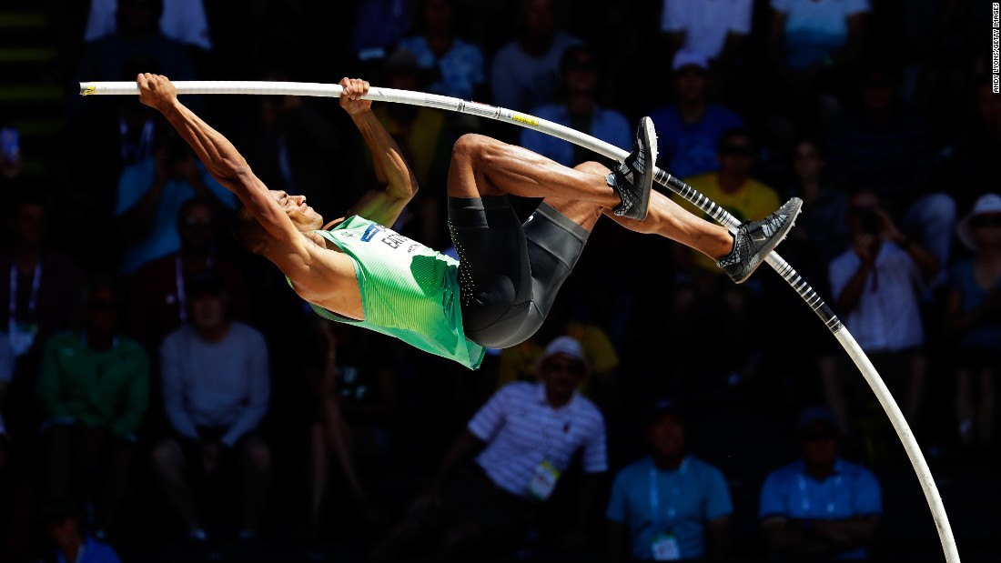Ashton Eaton competes in the pole vault during the U.S. Olympic trials on Sunday, July 3. Eaton won the decathlon and will represent the United States in Rio de Janeiro.