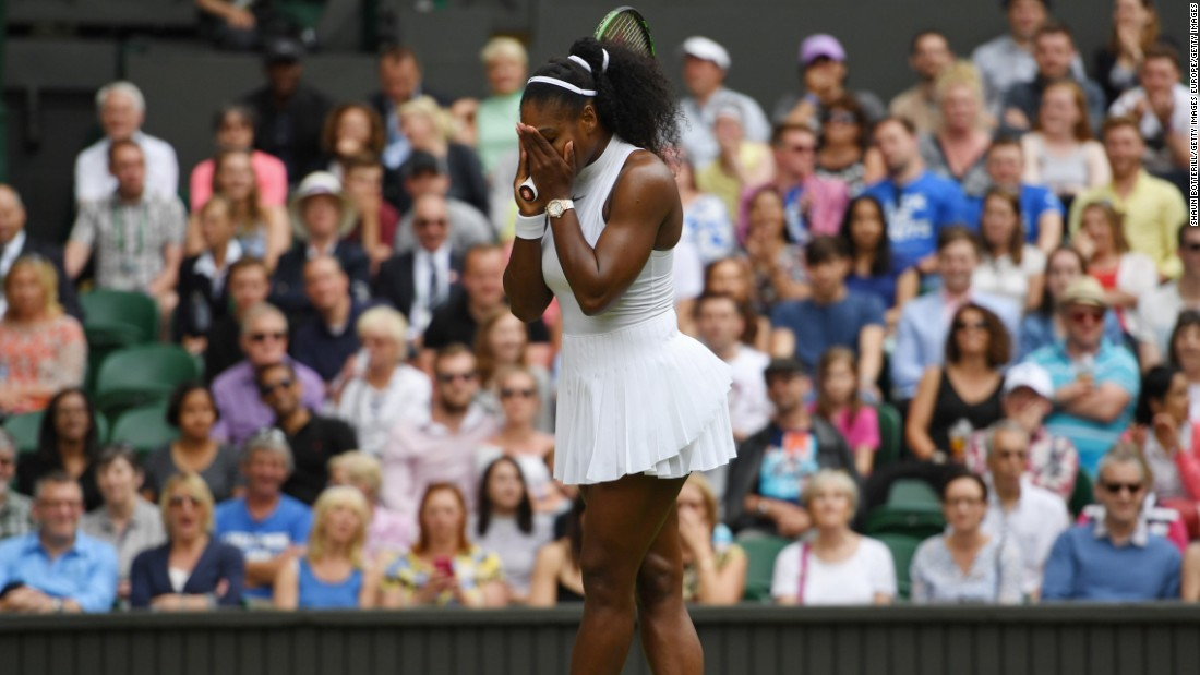Serena Williams was made to sweat against Russia's Svetlana Kuznetsova. The Russian broke to lead 5-4 in the opening set, but couldn't see it out before play was delayed. World No. 1 Williams recovered to win in straight sets, taking the second set 6-0.