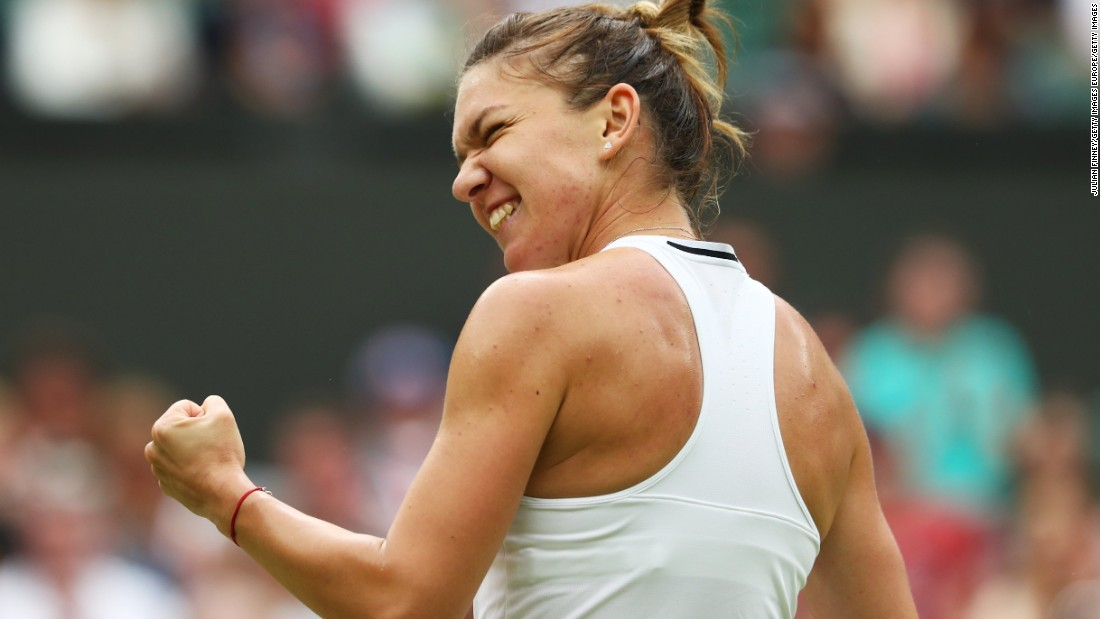 Simona Halep reached the last eight of Wimbledon for the second time in her career after coming from behind to beat American Madison Keys.
