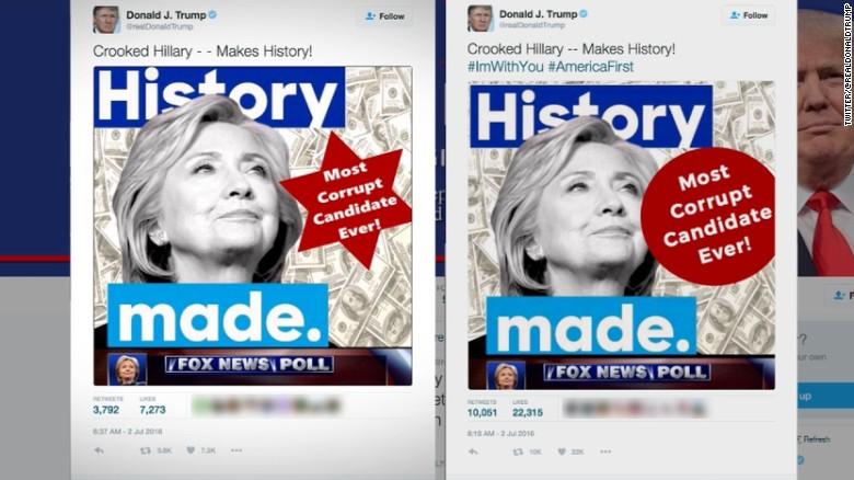 Trump fires back at tweet critics