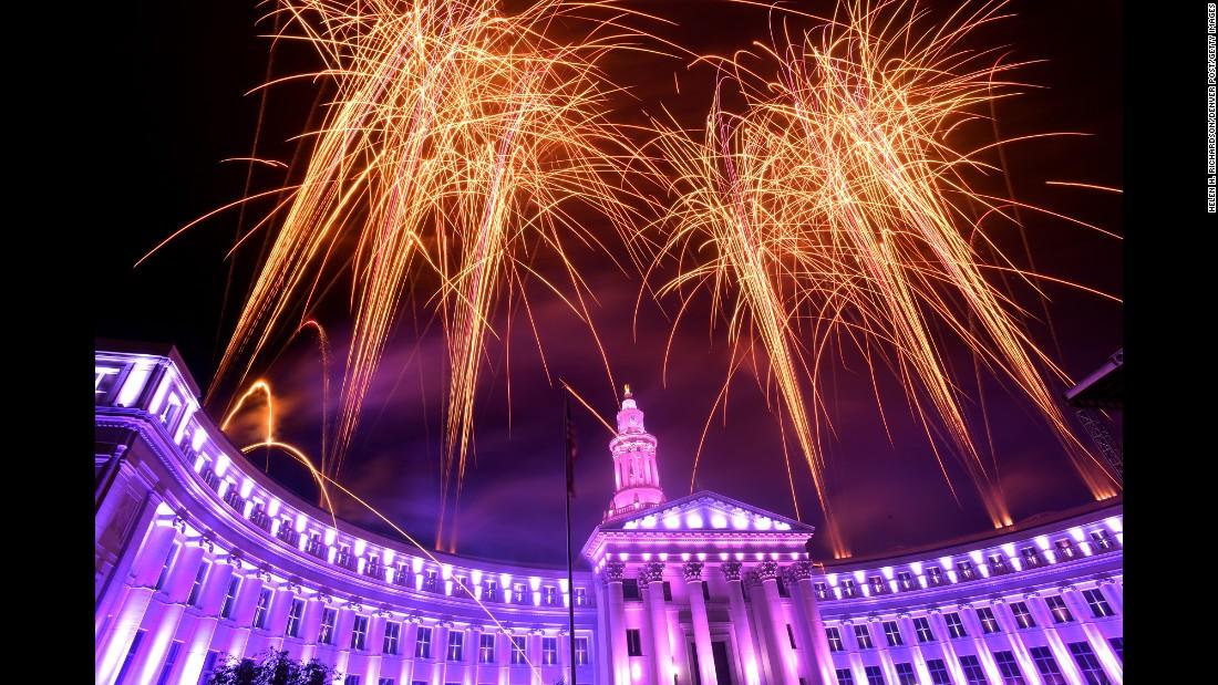 People in Denver also got an early taste of fireworks on July 3.