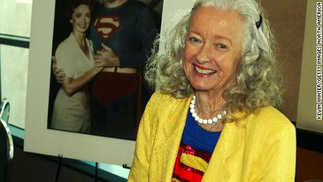 "BURBANK, CA - AUGUST 16:  ""Superman's"" Noel Neill (Lois Lane) appears at the First Official TV Land Convention at the Burbank Airport Hilton on August 16, 2003 in Burbank, California. (Photo by Kevin Winter/Getty Images)"