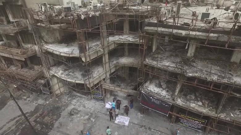 Drone reveals devastation in Baghdad