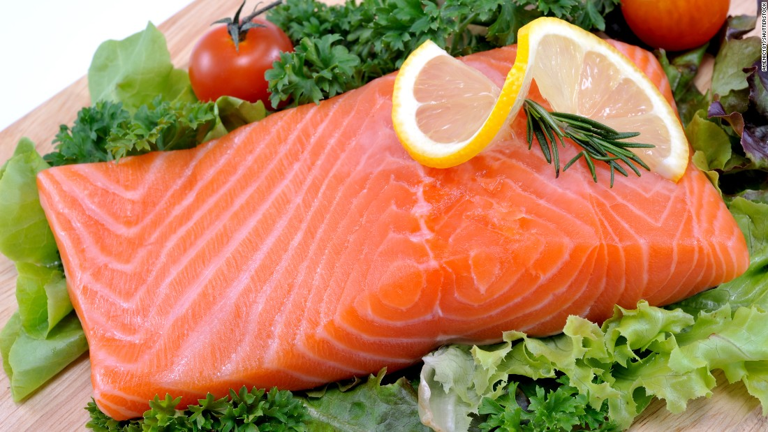 """Salmon, albacore tuna, mackerel, herring, lake trout and sardines are all """"fatty fish"""" high in omega-3 fatty acids. The American Heart Association recommends at least two servings a week. Each serving is 3.5 ounces cooked, or about ¾ cup of flaked fish."""