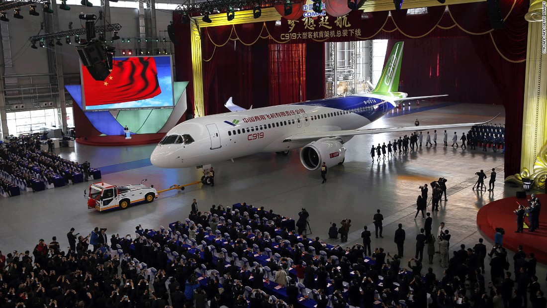 With a flying range of up to 5,555 kilometers (3,451 miles), China's first big passenger plane, the C919, is designed to rival Airbus and Boeing in the single-aisle midsized segment. It'll also make an appearance.