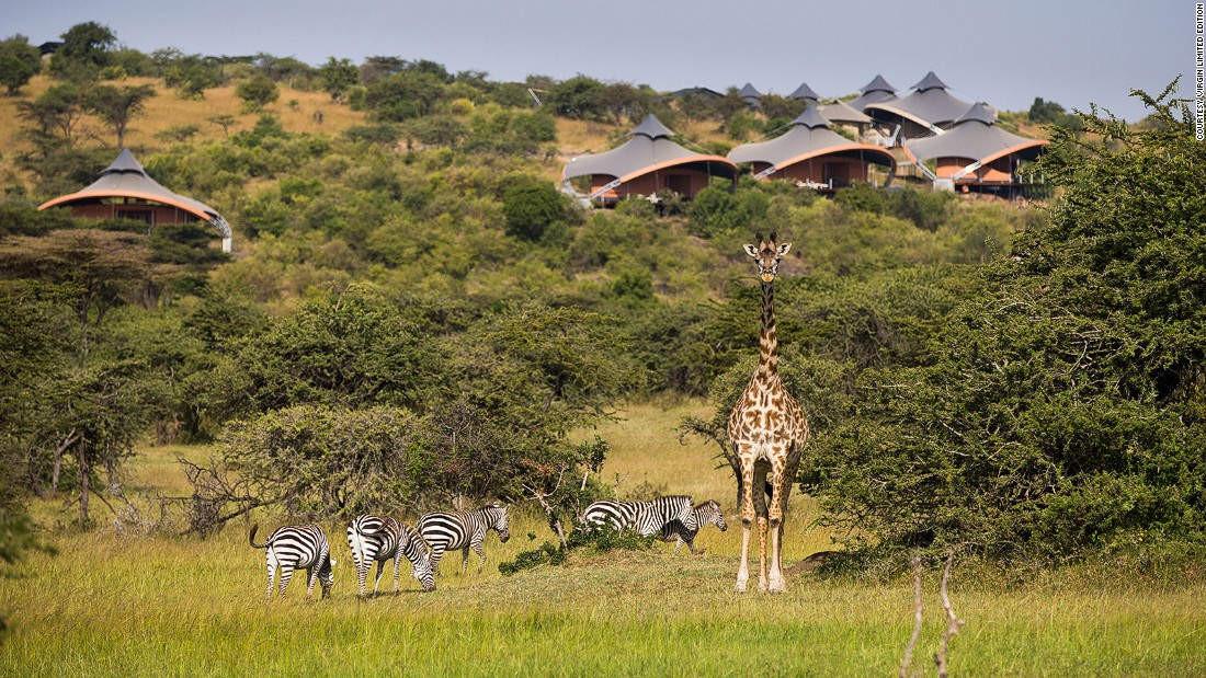 Mahali Mzuri is owned by British entrepreneur Richard Branson and is located in Olare Motorogi Conservancy on the outskirts of the national reserve.