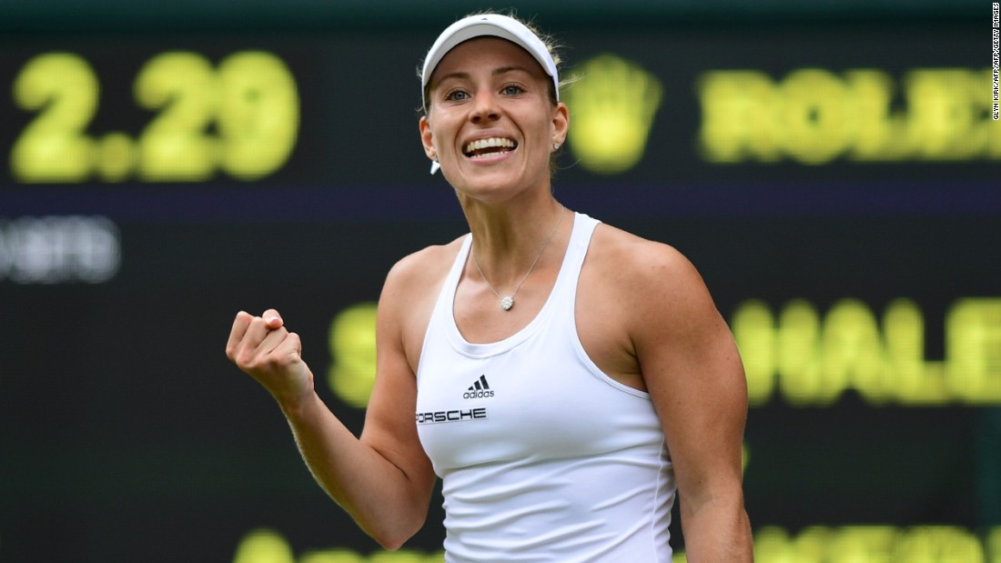 Former world No. 1 Williams, seeded eighth in southwest London, will next play Australian Open champion Angelique Kerber (pictured).