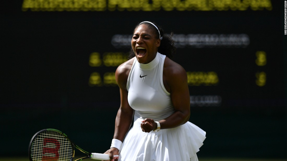 Defending champion Serena Williams beat  Anastasia Pavlyuchenkova 6-4 6-4 in her quarterfinal.