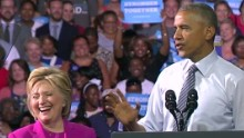 obama hillary clinton campaign event sot nr_00014320.jpg