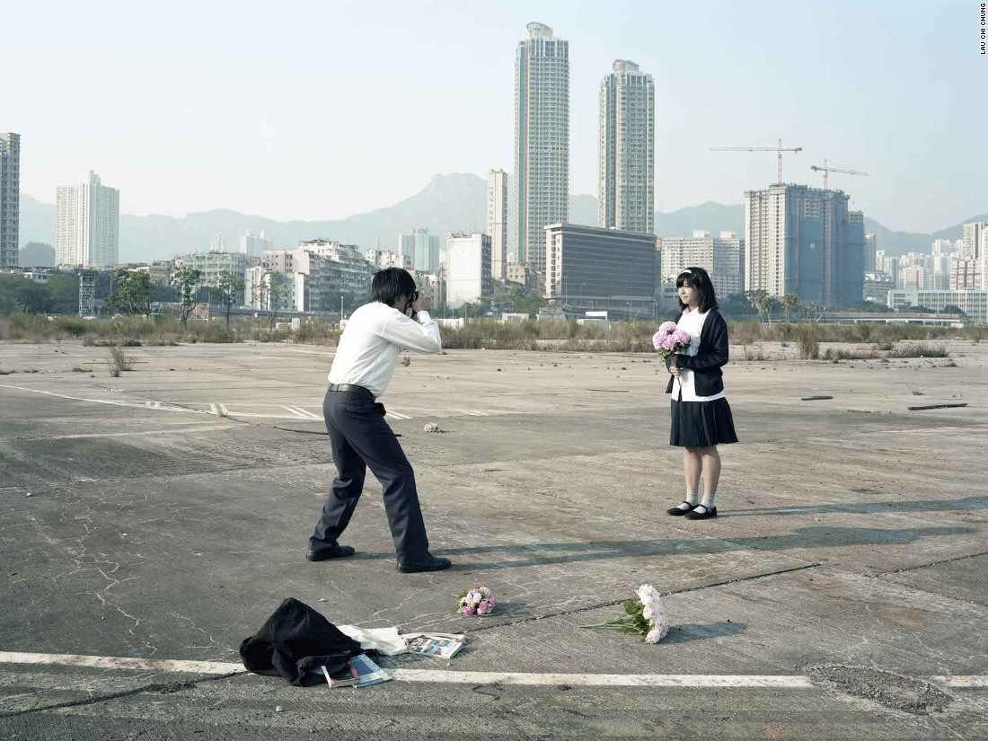 """Hong Kong photographer Lau Chi-Chung's conceptual series """"After School"""" is about the gap between the city's education system and the real lives of its students. Growing up in Hong Kong, """"the teacher was the authority,"""" says Lau. """"But after leaving school we've taken years to realize that much of what we might've learned is wrong."""""""