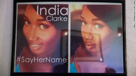After India Clarke's death, advocates asked the world to #SayHerName online.