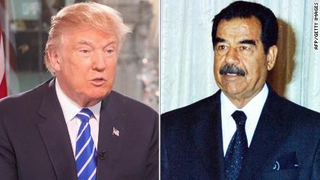 Trump offers praise for Saddam Hussein's efficient killing of 'terrorists'