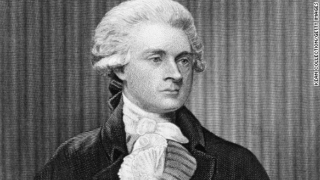 American Founding Father, author of the Declaration of Independence (1776) and third President of the United States, Thomas Jefferson (1743 - 1826), circa 1790.