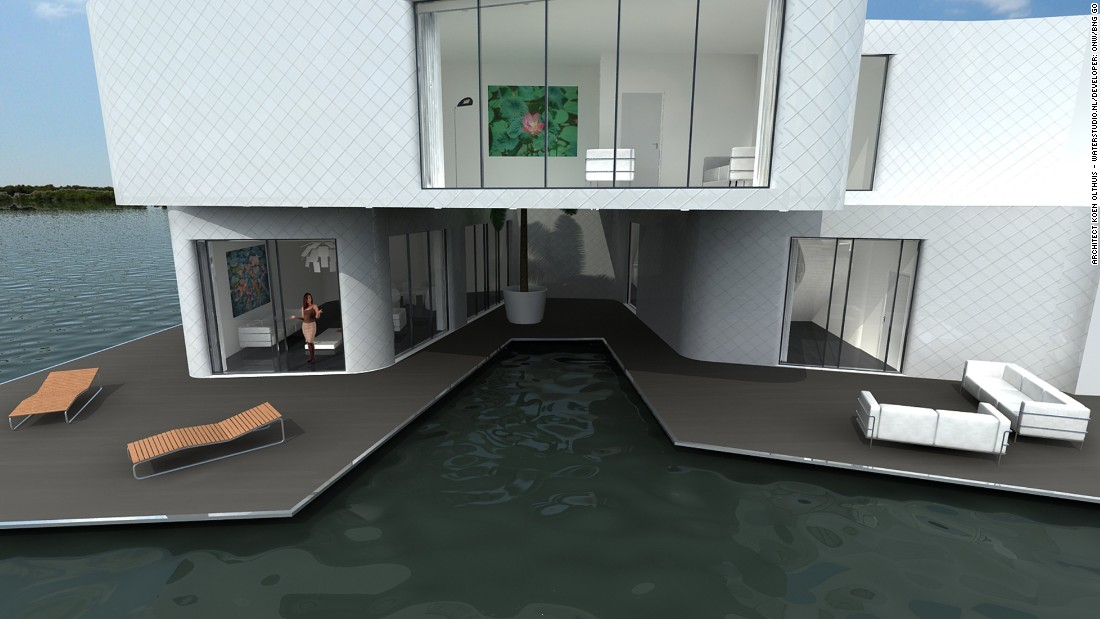 An ambitious project from Dutch developers ONW/BNG GO, the Citadel is Europe's first floating apartment building. It's part of the New Water development project, which will comprise six floating apartment buildings -- all designed to adapt to flooding and rising water levels.