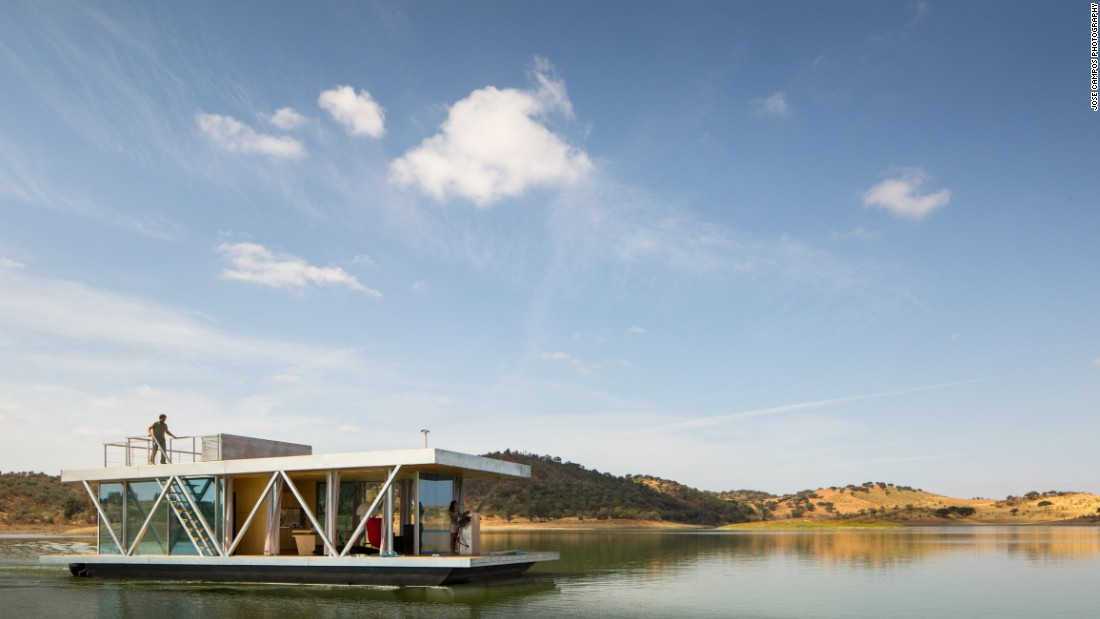 This floating abode is all about sustainable, mobile living -- anywhere in the world. From the designers of Friday SA, a Portuguese design and engineering firm, Floatwing was built to travel and its modular design can be broken down and transported in two or three shipping containers. You can anchor where you wish, or motor around at a speed of up to 3 knots.