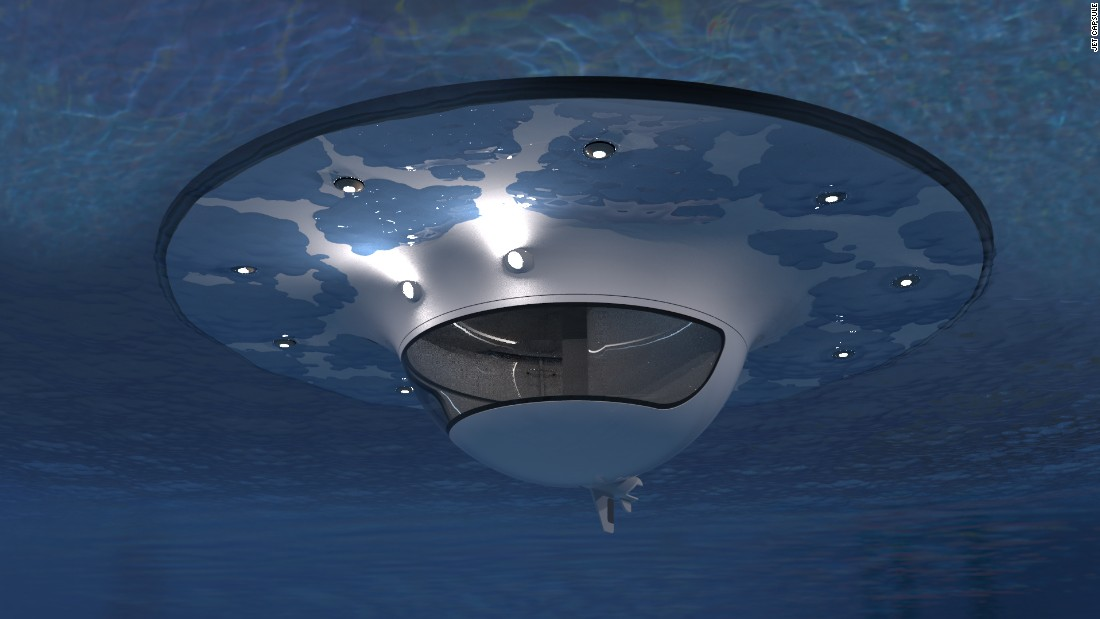 The shells are made of fiberglass and secured with a hermetic seal, which keep it afloat and stable. The Italian company behind the concept, Jet Capsule, says the sphere is unsinkable, utilizing a special elastic anchor system to maintain stability in rough seas.