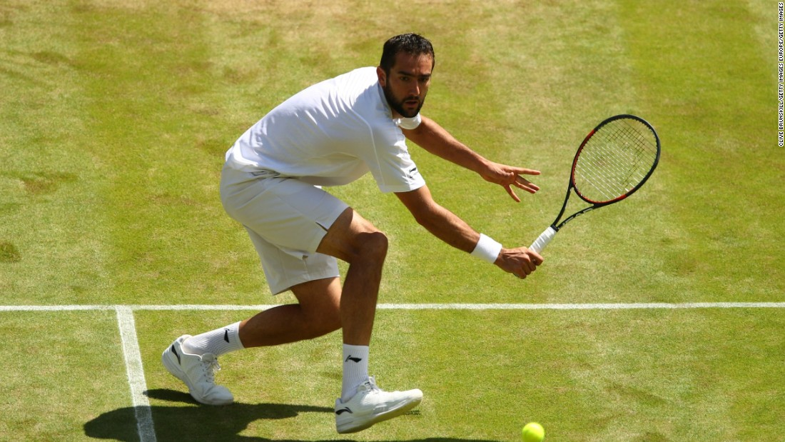 Big-serving world No.13 Cilic looked strong, hitting a number of impressive winners.