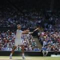Federer returns serve Marin Cilic Wimbledon quarterfinals