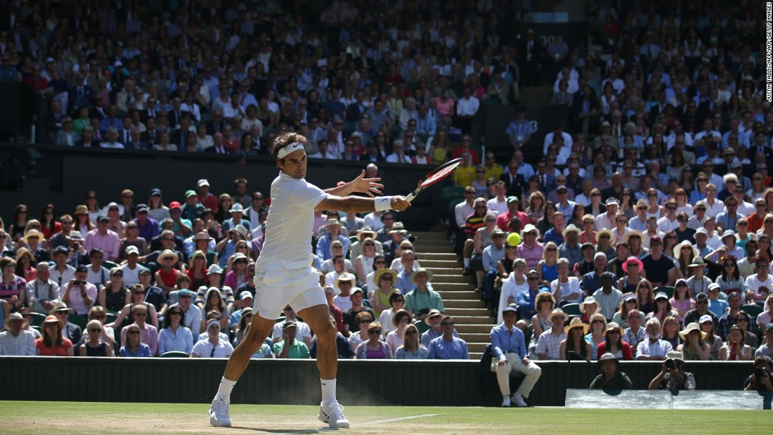 """A whopping 27 aces and zero double-faults got the great man out of hot water when it mattered most. <a href=""""http://edition.cnn.com/2016/06/28/tennis/roger-federer-tennis-wimbledon-statistics/"""">Find out the numbers behind a tennis genius, here</a>."""