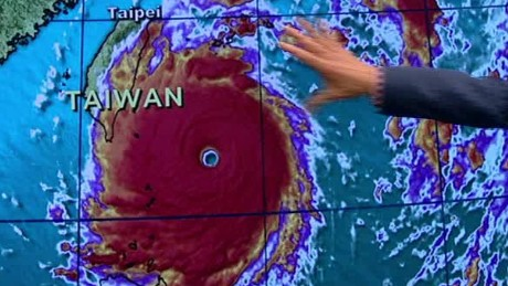 Super Typhoon Pummels Taiwan