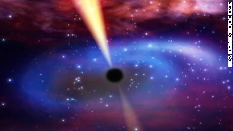 Astronomers capture supermassive black hole as it eats passing star