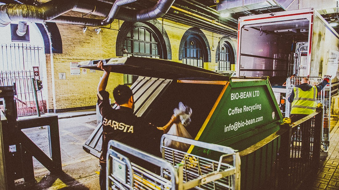 The bio-bean team pick up coffee waste from 300 locations across the UK.