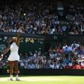Serena Williams Serves Vesnina Semifinal Wimbledon