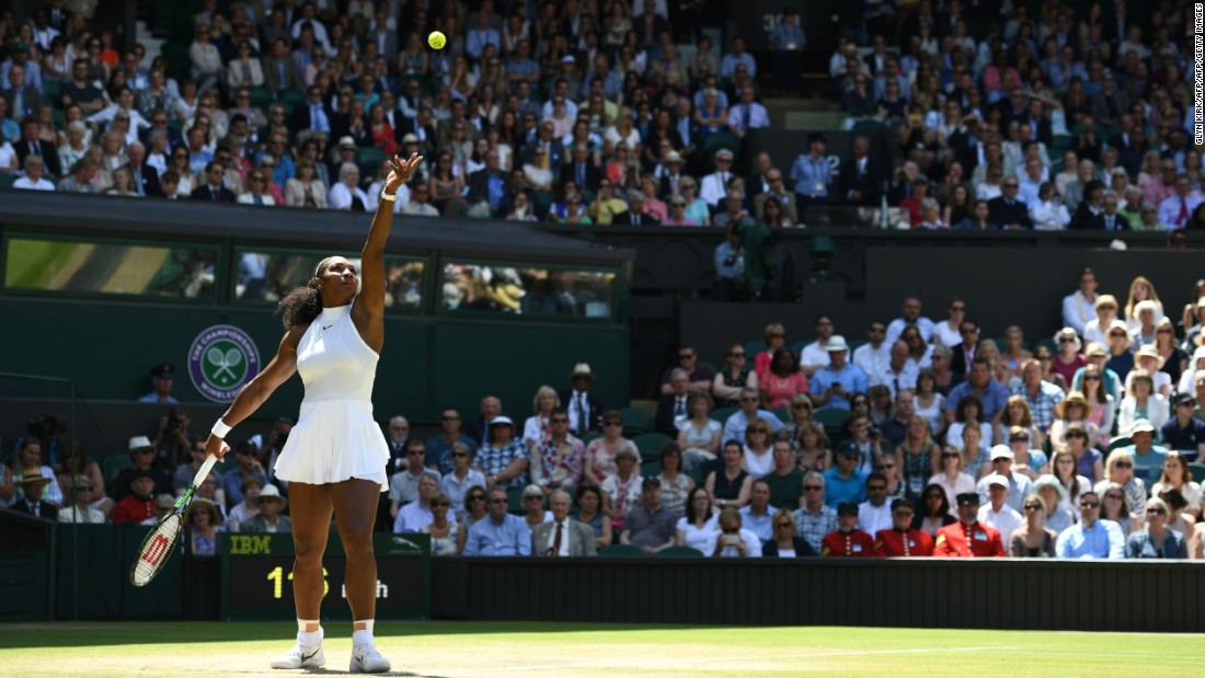 Reigning champion Serena Williams proved far too strong for world No. 50 Elena Vesnina, requiring just 48 minutes on court to triumph 6-2 6-0 in Thursday's opening women's semifinal.