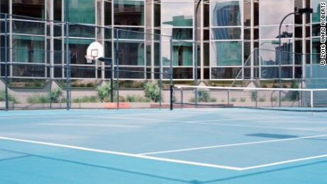 Capturing the unexpected beauty of deserted sport courts