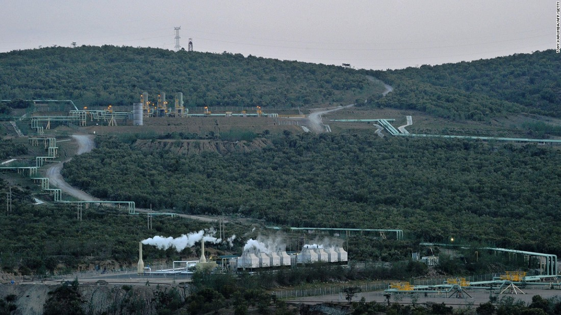 Several renewable power plants are operating in the geothermal fields of Olkaria, Kenya, harvesting the power of underground geothermal energy.<br />The site is located on the floor of the Kenyan Rift Valley, near the shores of Lake Naivasha some 120 kilometers north-east of the capital, Nairobi.