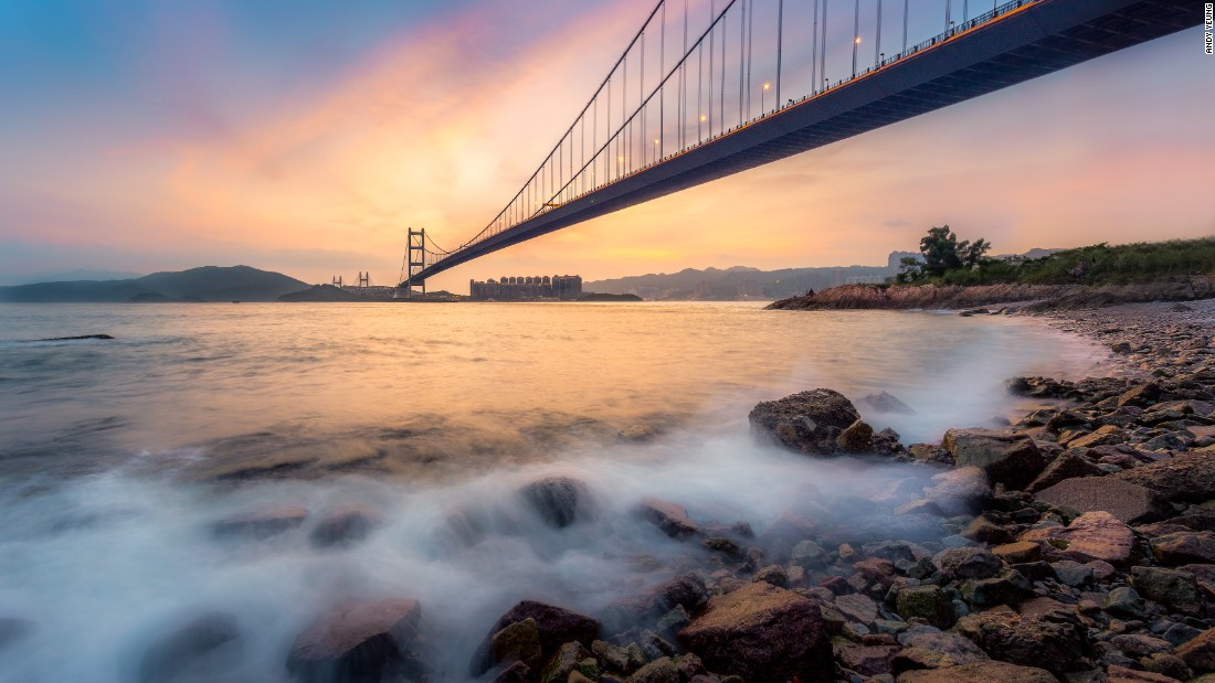 This bridge connecting the islands of Tsing Yi and Ma Wan -- where it got its name -- spans 1,377 meters and became the world's second-longest bridge when it opened in 1997. The six-lane suspension bridge is now the ninth-longest in the world.