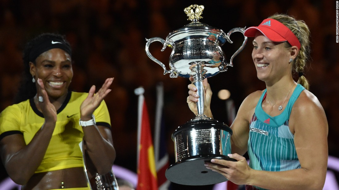 """The German won her first slam in January, beating the six-time Melbourne champion. As Serena chases Steffi Graf's <a href=""""http://edition.cnn.com/2016/04/20/tennis/french-open-arantxa-sanchez-vicario/"""">record</a>, can Kerber do it again?"""