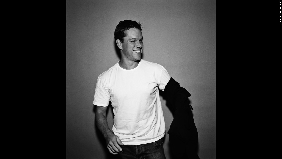 """Swirc had only known actor Matt Damon for five minutes, but you wouldn't have known from this photo. """"Matt Damon gives you the impression that you are his friend. He always laughs with you, pleasant,"""" Swirc said."""
