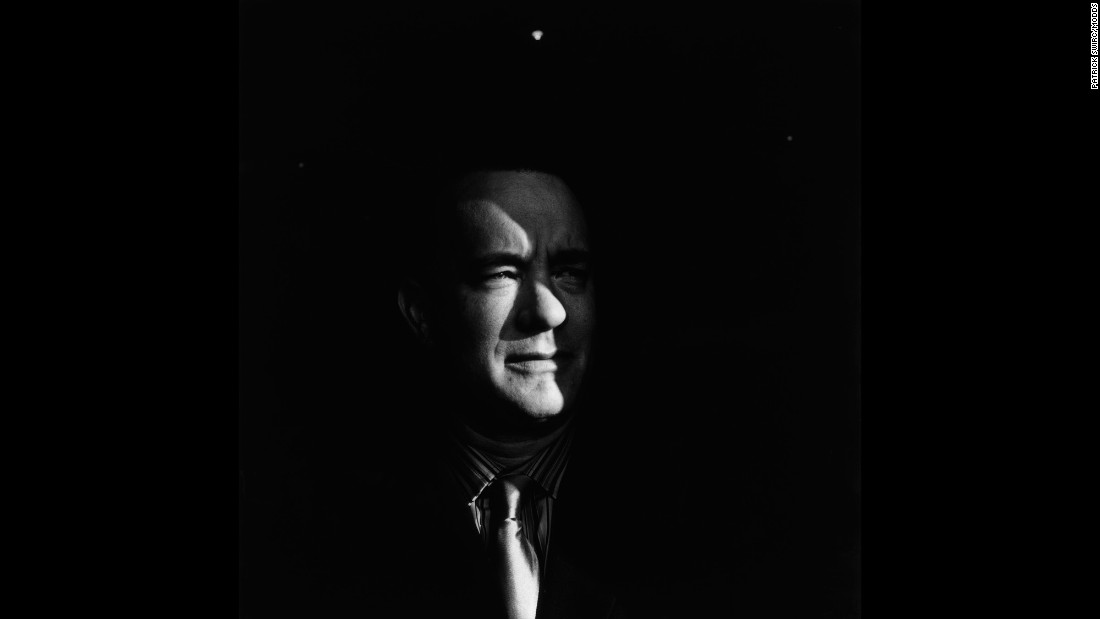 """Swirc photographed actor Tom Hanks at the Deauville American Film Festival in France. Swirc said it usually rains at the festival, but Hanks """"approached the window of opportunity with that little ray of this sun."""""""