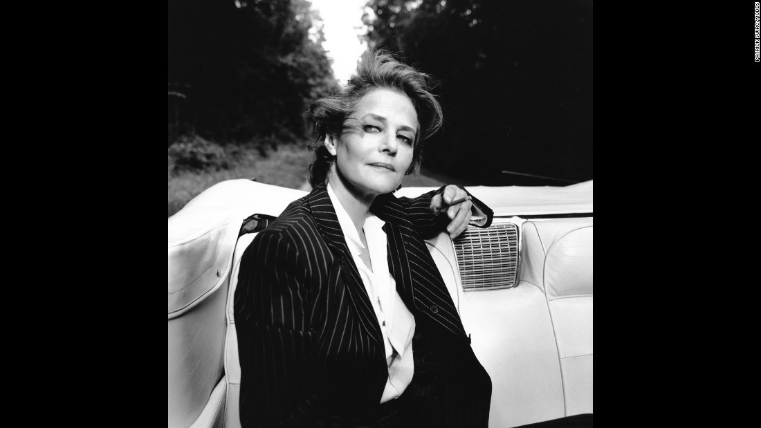 """Actress Charlotte Rampling """"is very interesting to work with,"""" Swirc said. """"She takes the time to be completely with you when you photograph her."""""""