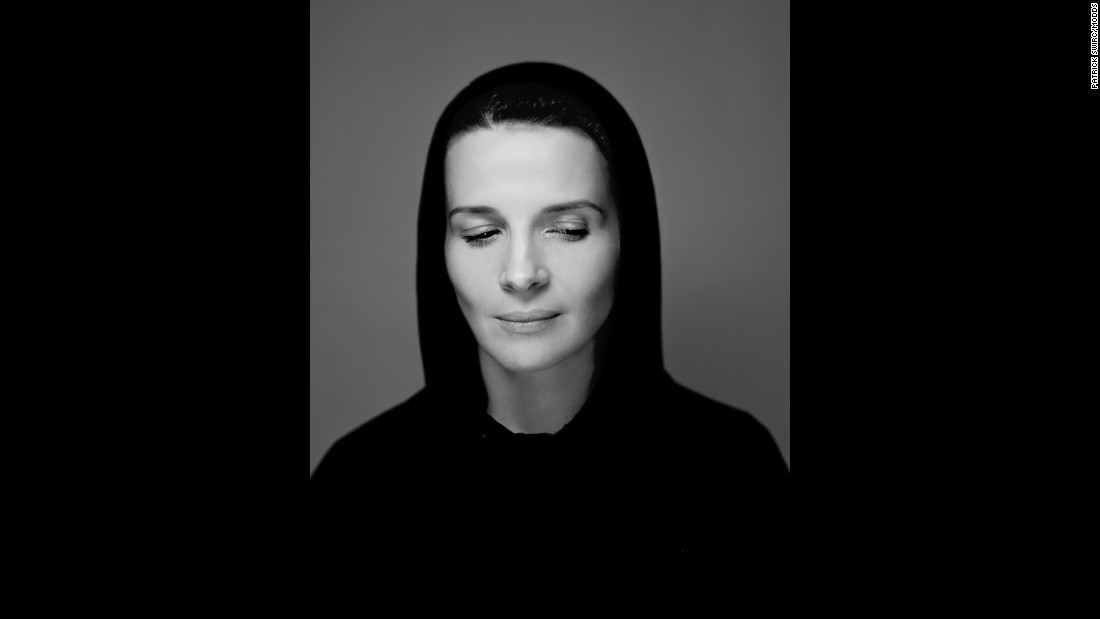 """Swirc had just met actress Juliette Binoche when he took this photo. """"I found her so beautiful and so sensual. I was very happy to photograph her."""""""