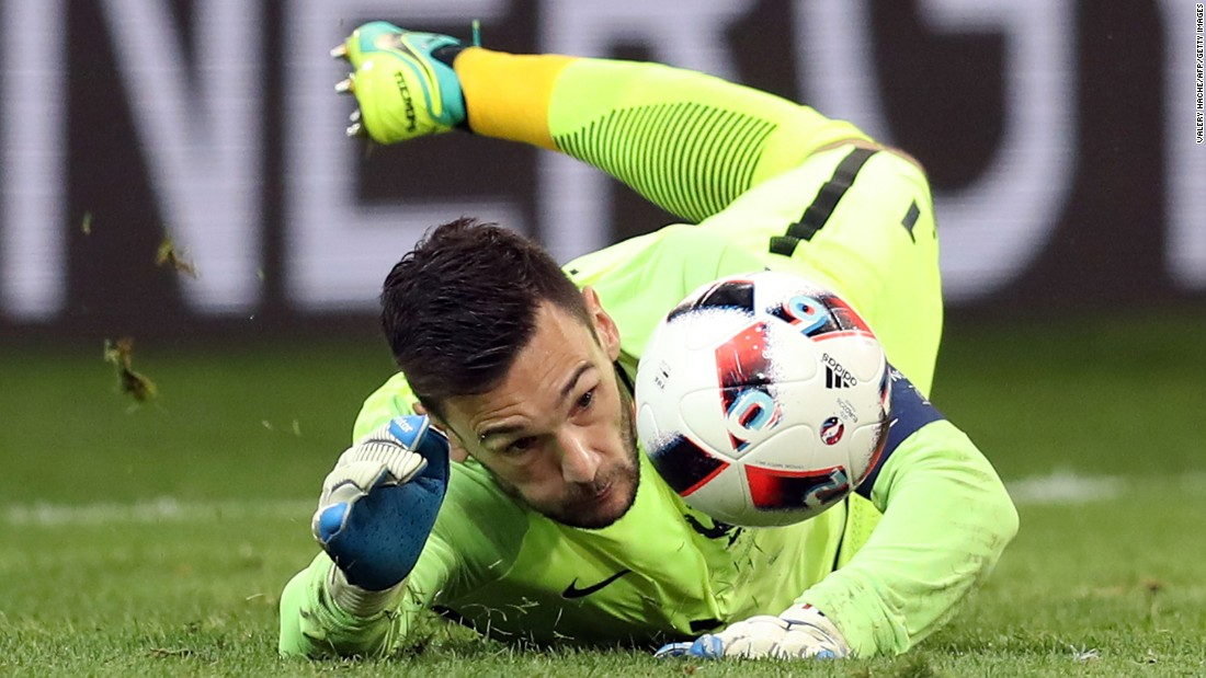 Lloris made several big saves for the French team.