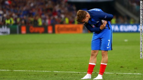 Griezmann took a bow after scoring both goals in the 2-0 semifinal win over Germany.