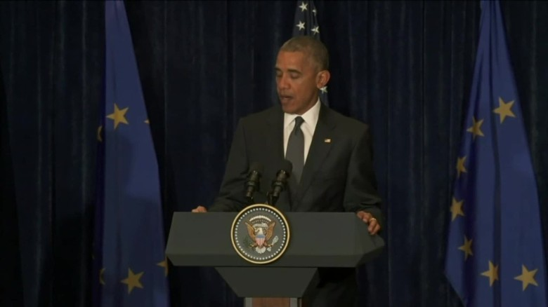 president obama reacts to dallas shootings from warsaw poland_00000000