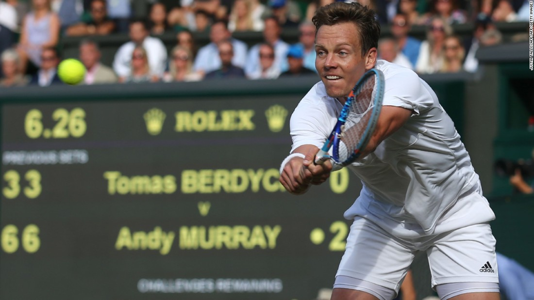 The 2013 champion triumphed in straight sets against Czech 10th seed Tomas Berdych, who had reached the last four for the first time since he was runner-up in 2010.