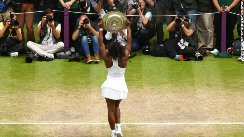 Williams was claiming her 22nd grand slam title to tie Steffi Graf on the all-time list.