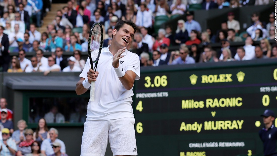 Raonic's frustration was evident after failing to convert two break points in the fifth game of the third set.